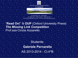 "Read On!"" & OUP (Oxford University Press) The Missing …"