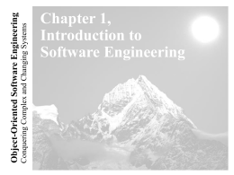 Lecture for Chapter 1, Introduction to Software …