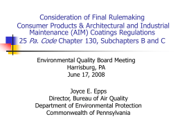 Pennsylvania Department of Environmental Protection