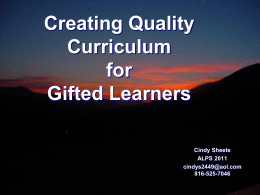 Creating Curriculum for Life