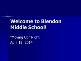 Welcome to Blendon Middle School!