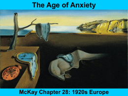 The Age of Anxiety - Hollidaysburg Area School District