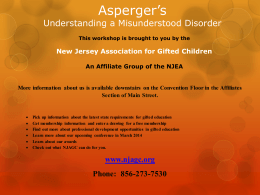 Aspergers and autism - Readington Township Public Schools