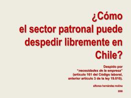 EL LIBRE DESPIDO EN CHILE. DESPIDO POR …