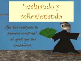 Evaluando y reflexionando