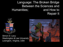 Language: The Broken Bridge Between the Sciences and