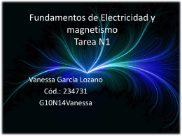 Fundamentos de Electricidad y magnetismo Tarea N1