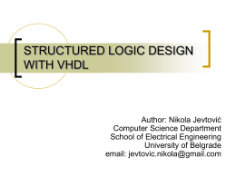 STRUCTURED LOGIC DESIGN WITH VHDL – part 1
