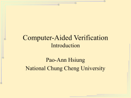 Computer-Aided Verification Introduction