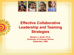 Effective Collaboration and Planning Strategies at the