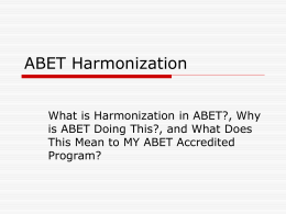 ABET PRIMER - American Society for Engineering Education