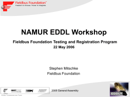 NAMUR EDDL Workshop - Device Description Language