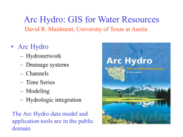 GIS in Water Resource Consortium