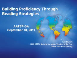 Practical Reading Strategies for the Foreign Language