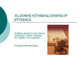PODER NOTARIAL/POWER OF ATTORNEY