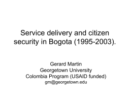 Making citizen security programs work for poor people: …