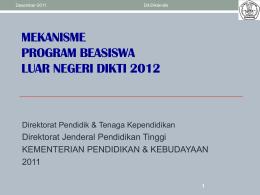 PROGRAM BEASISWA S-2 & S