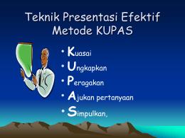 Teknik Presentasi Efektif