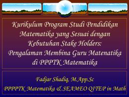 Psikologi Pembelajaran Matematika