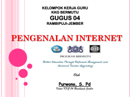 PENGENALAN INTERNET - ::: Better Education through