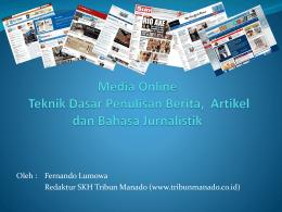 Media Online Teknik Dasar Penulisan Berita, Artikel dan