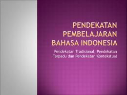 Pembelajaran Bahasa Indonesia MI
