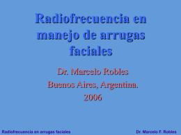 Radiofrecuencia en manejo de arrugas faciales