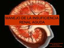 MANEJO DE LA INSUFICIENCIA RENAL AGUDA