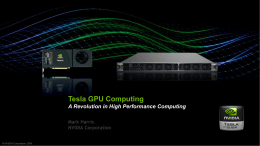 Tesla GPU Computing - National Tsing Hua University