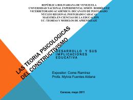 LAS TEORIA PSICOLOGICAS DEL CONSTRUCTIVISMO