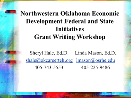 Federal and State Initiatives Grant Writing Workshop