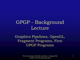 GPGP - Background Lecture