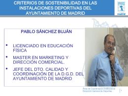 POLITICA DEPORTIVA DEL AYUNTAMIENTO DE MADRID