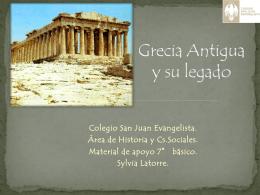 Grecia Antigua y su legado - Colegio San Juan Evangelista