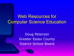 PowerPoint Presentation - Web Resources for Computer