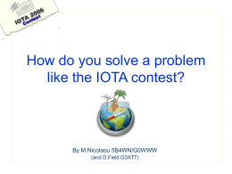 How do you solve a problem like the IOTA contest?