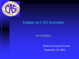 CAS Web Site http://www.casact.org
