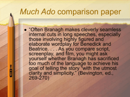 Much Ado comparison paper