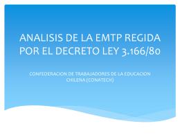 ANALISIS DE LA EMTP REGIDA POR EL DECRETO LEY …