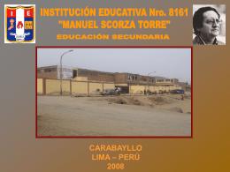 """INSTITUCION EDUCATIVA Nro. 8161 """"MANUEL SCORZA …"""