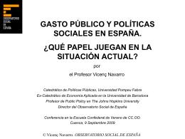 GASTO PUBLICO SOCIAL (como porcentage del P.I.B.)