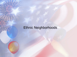 Ethnic Neighborhoods - Abington Heights School District