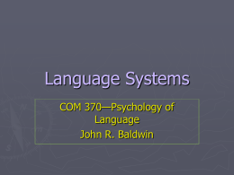Language Systems - My Illinois State