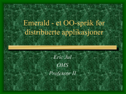 Emerald – distributed OO language