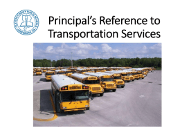 A Principal's Guide for Transportation Services