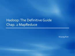 Definitive Hadoop Chap. 2 MapReduce
