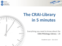 The CRAI-Library in 5 minutes: everything you need to …