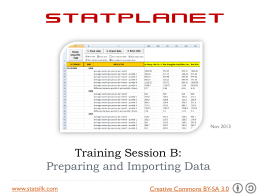 Preparing and Importing Data into StatPlanet