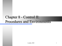 Chapter 8 - Control II: Procedures and Environments