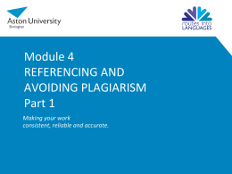 How to Avoid Plagiarism through Referencing